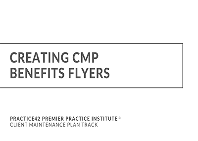 Creating CMP Benefits Flyers