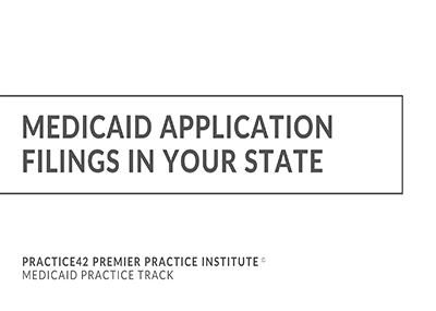 Medicaid Application Filing in Your State