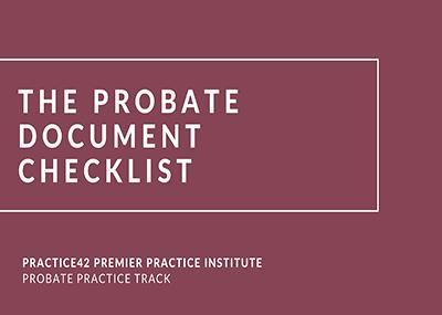 Probate Document Checklist