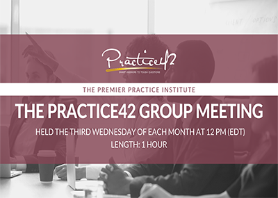 Practice42 Group Meeting – August 2020